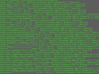 Hackers computer code