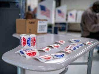 Voters in Des Moines precincts 44, 58 and 59 cast their ballots at Callanan Middle School.