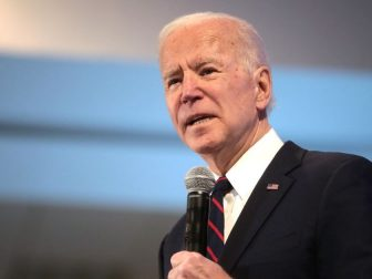 Former Vice President of the United States Joe Biden speaking with attendees at the 2020 Iowa State Education Association (ISEA) Legislative Conference at the Sheraton West Des Moines Hotel in West Des Moines, Iowa.