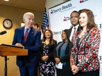 Joe Biden with Gretchen Whitmer