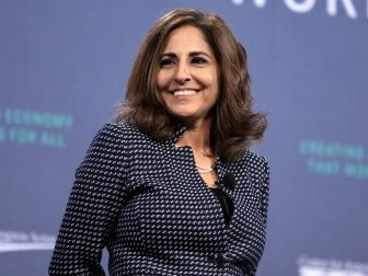 Neera Tanden speaking with attendees at the 2019 National Forum on Wages and Working People hosted by the Center for the American Progress Action Fund and the SEIU at the Enclave in Las Vegas, Nevada.
