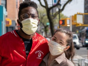 A couple enjoying the sunshine during New York City's #Coronavirus Quarantine, found walking up Flatbush Avenue in Brooklyn.