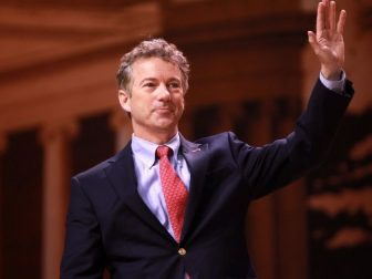 Senator Rand Paul of Kentucky speaking at the 2014 Conservative Political Action Conference (CPAC) in National Harbor, Maryland.