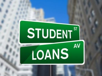 Student Loans Wall Street Sign
