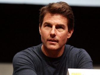 "Tom Cruise speaking at the 2013 San Diego Comic Con International, for ""Edge of Tomorrow"", at the San Diego Convention Center in San Diego, California."