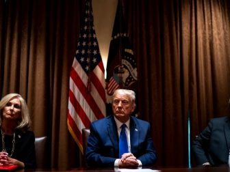 Attorney General William Barr in White House meeting with President Trump