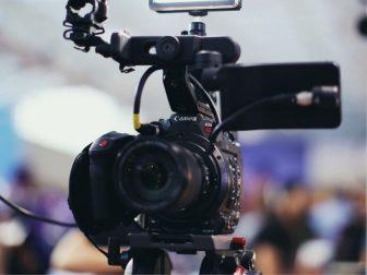 Photo of a black DSLR camera