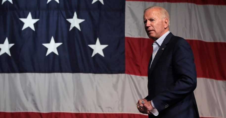Former Vice President of the United States Joe Biden speaking with attendees at the 2019 Iowa Democratic Wing Ding at Surf Ballroom in Clear Lake, Iowa.