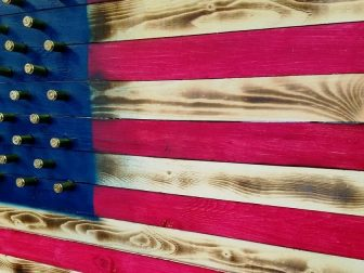 Bullets as stars in American flag