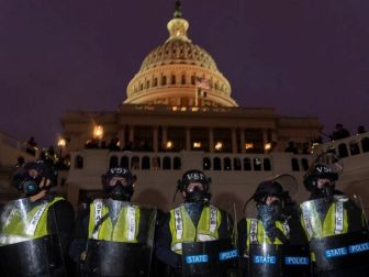 Capitol Police line up on January 6, 2021