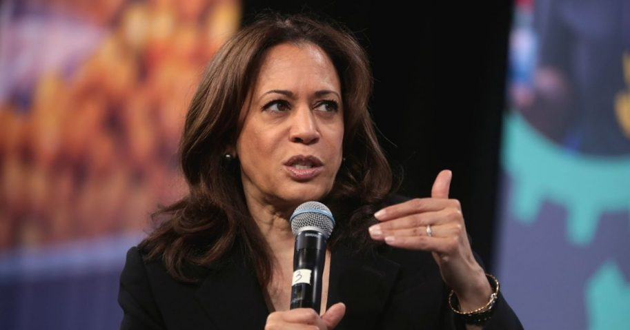 U.S. Senator Kamala Harris speaking with attendees at the 2019 National Forum on Wages and Working People hosted by the Center for the American Progress Action Fund and the SEIU at the Enclave in Las Vegas, Nevada.