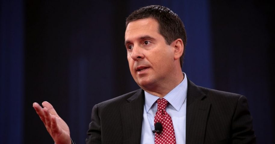 House Intelligence Committee Chairman Devin Nunes speaking at the 2018 Conservative Political Action Conference (CPAC) in National Harbor, Maryland.