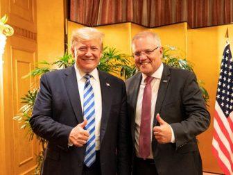 President Donald J. Trump poses for a photo with Australian Prime Minister Scott Morrison