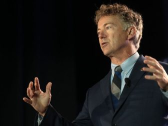 U.S. Senator Rand Paul speaking with attendees at the 2019 Young Americans for Liberty Convention at the Best Western Premier Detroit Southfield Hotel in Detroit, Michigan.