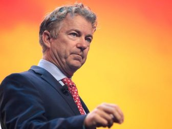 U.S. Senator Rand Paul speaking with attendees at the 2020 Student Action Summit hosted by Turning Point USA at the Palm Beach County Convention Center in West Palm Beach, Florida.
