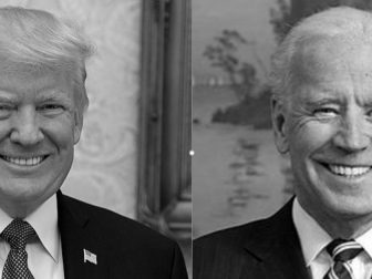 Trump and Biden official portraits