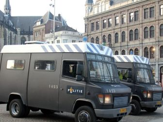 Amsterdam Police's riot vans