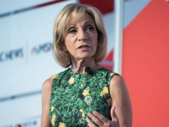 U.S. Marine Corps Gen. Joseph F. Dunford, Jr., chairman of the Joint Chiefs of Staff, speaks alongside moderator Andrea Mitchell, NBC News Chief Foreign Affairs Correspondent, at the 2017 Aspen Security Forum in Colo., July 22, 2017. Gen. Dunford explained U.S. strategy and how it would be carried out in the years ahead. (DoD Photo by U.S. Army Sgt. James K. McCann)