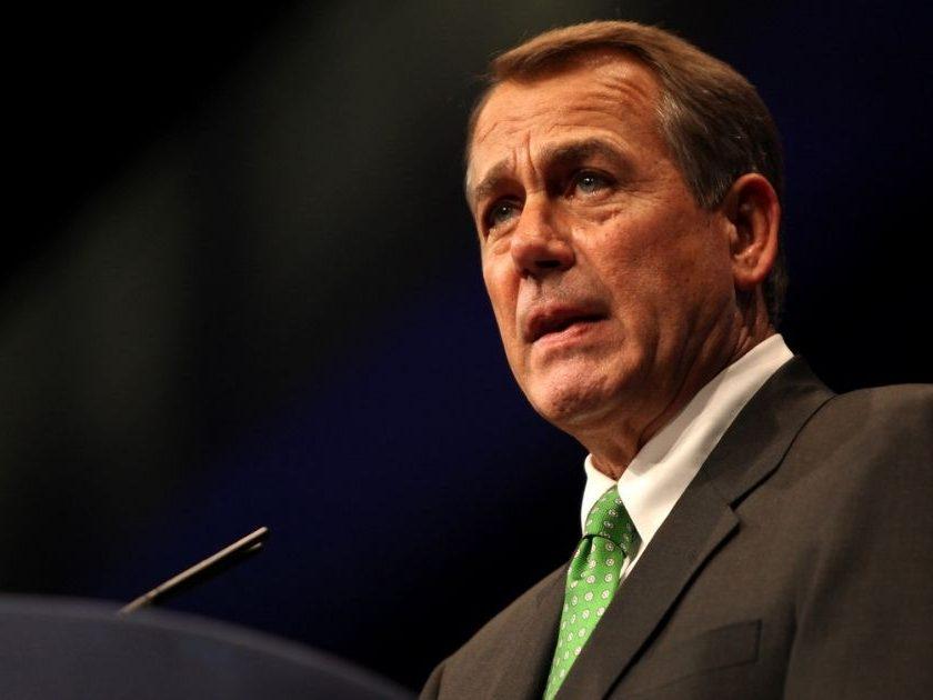 Speaker of the House John Boehner speaking at the 2012 CPAC in Washington, D.C.
