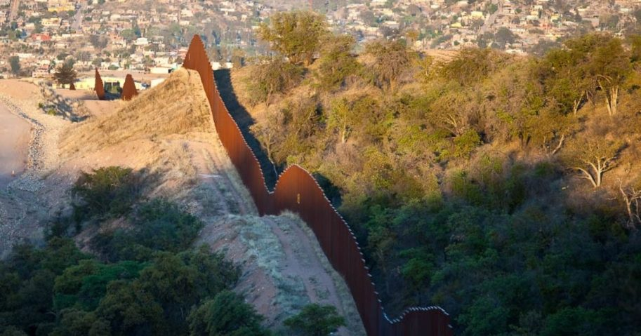 Wall on the US Mexico border