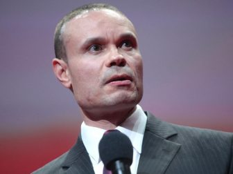Dan Bongino speaking with attendees at the Conservative Review Convention at the Bon Secours Wellness Arena in Greenville, South Carolina.