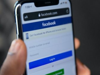 facebook.com mobile page on a mobile Safari browser