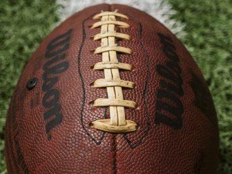 Wilson football on a field