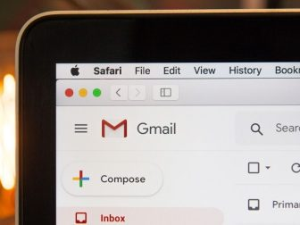 Gmail home screen on a computer