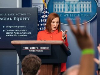 White House Press Secretary Jen Psaki participates in a briefing Tuesday, Jan. 26, 2021, in the James S. Brady Press Briefing Room of the White House. (Official White House Photo by Chandler West)