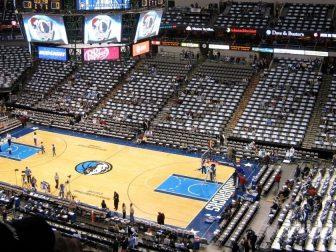 Pregame wideshot of the Mavericks stadium