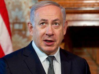 Israeli Prime Minister Benjamin Netanyahu addresses reporters on June 27, 2016, at Villa Taverna - the U.S. Ambassador's Residence in Rome, Italy - between a pair of bilateral meetings between him and U.S. Secretary of State John Kerry. [State Department photo/ Public Domain]