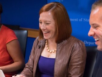 Department Spokesperson Jen Psaki responds to your #AskJen questions during a Twitter Q&A at the U.S. Department of State in Washington, D.C., on September 18, 2014. [State Department photo/ Public Domain]