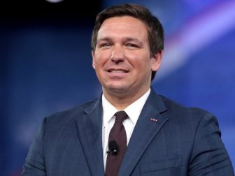 U.S. Congressman Ron DeSantis of Florida speaking at the 2017 Conservative Political Action Conference (CPAC) in National Harbor, Maryland.