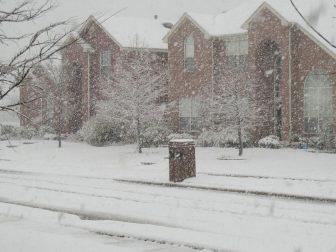 Snow in Frisco, TX