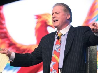 Wayne Allyn Root speaking at the 2016 FreedomFest at Planet Hollywood in Las Vegas, Nevada.