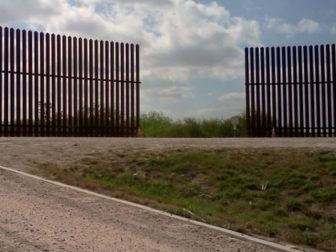 A gap in the border fence