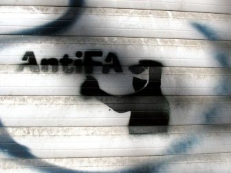 AntiFa spray paint