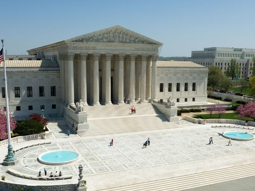 The above stock image shows the U.S. Supreme Court building in Washington D.C.