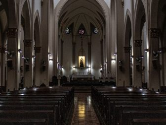 Sanctuary of a catholic church