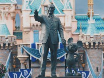 Walt & Mickey statue at Disney Land