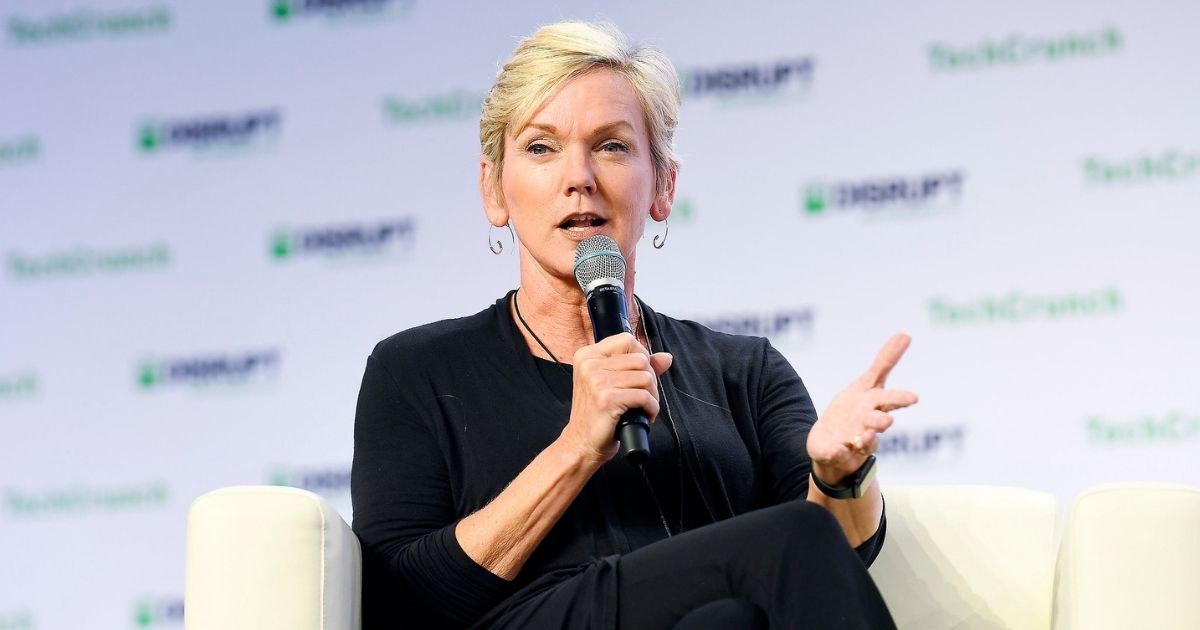 SAN FRANCISCO, CALIFORNIA - OCTOBER 03: Former Governor of Michigan & CNN Commentator Jennifer Granholm speaks onstage during TechCrunch Disrupt San Francisco 2019 at Moscone Convention Center on October 03, 2019 in San Francisco, California. (Photo by Steve Jennings/Getty Images for TechCrunch)
