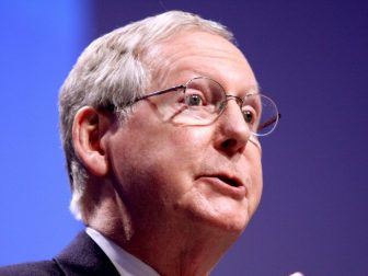 United States Senator and Senate Minority Leader Mitch McConnell of Kentucky speaking at CPAC 2011 in Washington, D.C.