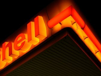 Shell gas station neon sign
