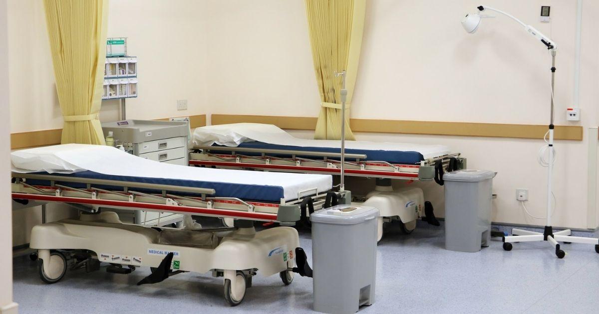 Hospital beds, Macau, China