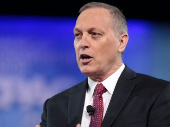 U.S. Congressman Andy Biggs of Arizona speaking at the 2017 Conservative Political Action Conference (CPAC) in National Harbor, Maryland.