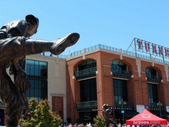 Atlanta - Turner Field: Monument Grove - Warren Spahn statue