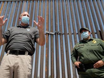 U.S. Customs and Border Protection Acting Commissioner Mark Morgan tours completed sections of the border wall along with U.S. Border Patrol Sector Chief Gloria I. Chavez and other senior Border Patrol officials during a visit to El Paso, Texas, August 26, 2020. CBP Photo by Jerry Glaser