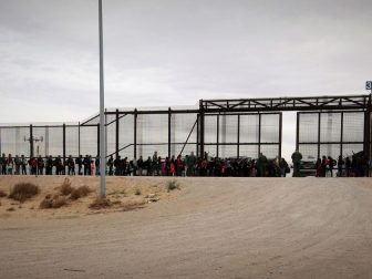U.S. Border Patrol agents assigned to El Paso Sector, El Paso Station intercept a group of approximately 127 migrants. CBP Photographer Jaime Rodriguez Sr.