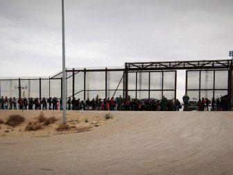 U.S. Border Patrol agents assigned to El Paso Sector, El Paso Station intercept a group of approximately 127 migrants. CBP Photographer Jaime Rodriguez Sr.