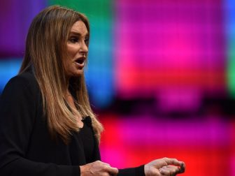 9 November 2017; Caitlyn Jenner, Olympian & Advocate of Transgender Rights, on Centre Stage during day three of Web Summit 2017 at Altice Arena in Lisbon. Photo by David Fitzgerald/Web Summit via Sportsfile